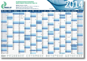 year planner with 14 columns of months